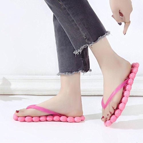 Slipper Massage Infradito Flat Outdoor Summer Janly Beach Fashion Hot Home Girls Pink Shoes Womans Heel Sandali AwqtYtCxf