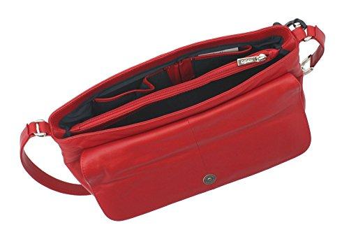 Mala de piel ANISHKA Colección de cuero bolso rojo 761_75 rojo