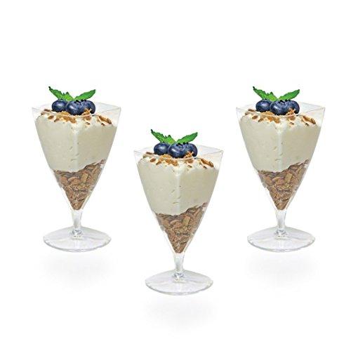Posh Setting Mini Collection, Mini Champagne Cups, Heavyweight Clear Plastic 1.5oz Champagne Cups, Elegant Disposable Dessert Cups. (20 CT) -