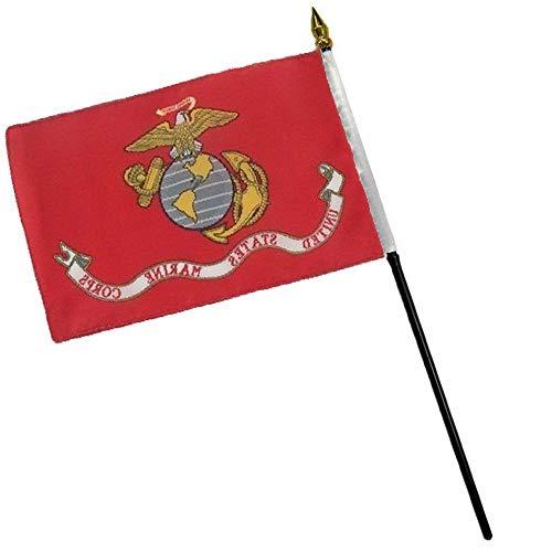 Mikash EGA Marines Marine Flag 4x6 Desk Table Stick | Model FLG - 2934