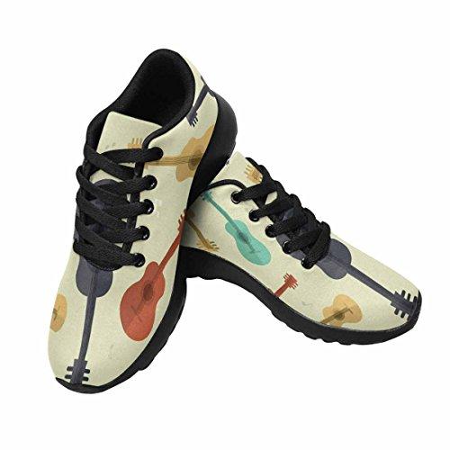 Interestprint Femmes Jogging Running Sneaker Léger Aller Facile Marche Confort Chaussures De Sport Modèle Guitare Musique