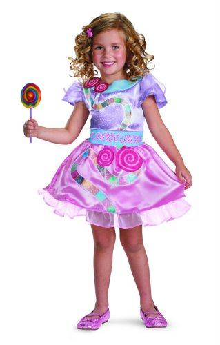 [Candyland Classic Girl Costume, Toddler (2T)] (Costume Land)