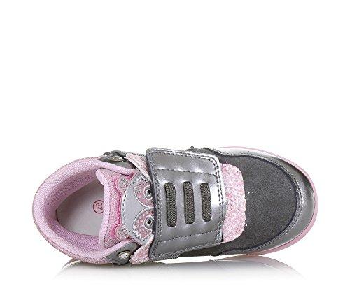 mélange romantique et rose de Lelli avec Chaussure Fille Gris réalisée style un tissus argent Kelly Filles IFFw8qx7