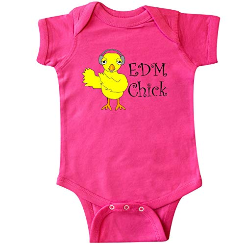 inktastic - EDM Chick Text Infant Creeper 6 Months Hot Pink 2ff73 ()