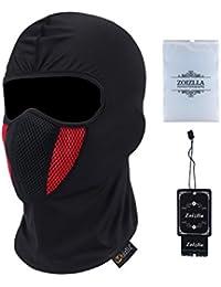 Balaclava Ski Mask, Zoizlla Motorcycle Face Mask for Men/Women, Thin Breathable Face Mask, Tactical Mask Snowboard Headgear - Black