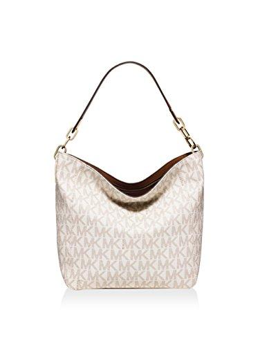 Michael Kors Fulton Medium Leather Shoulder Bag- (Medium Leather Bowling Bag)