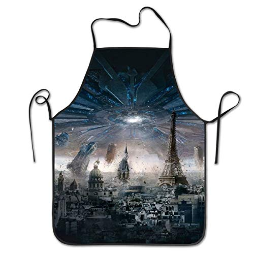Spaniel Bbq Apron - NiYoung Kitchen Apron Bib Aprons Women Men Professional Chef Aprons with Extra Long Ties - Paris Eiffel Towel Streets Wallpaper, Waterproof Waiter Hostess Apron for Crafting Dinner