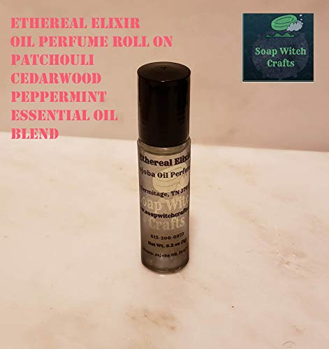 Cedarwood Mint - Ethereal Elixir, Oil Perfume Roll On - Patchouli Cedarwood Peppermint Essential Oil Blend