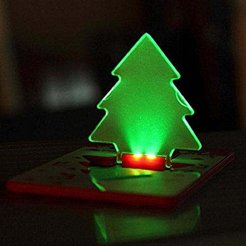 Folding Led Pocket Christmas Tree Card Light Lamp in US - 9