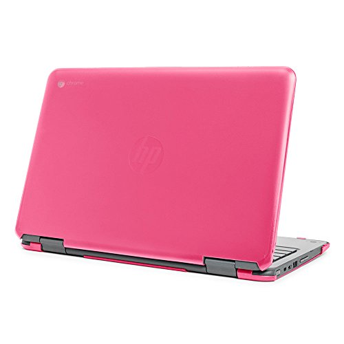 mCover Hard Shell Case for 11.6 HP Chromebook X360 11 G1 EE laptops (NOT Compatible with HP C11 G4EE / G5EE / G6EE) (HP CX360 11 G1EE Pink)