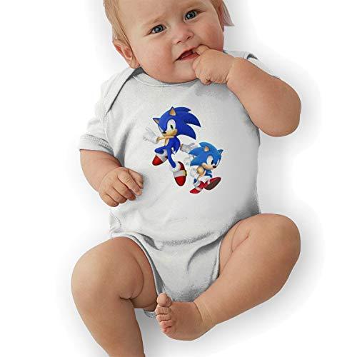 DingingGOOD Babys Sonic Hedgehog 3D Game Figure Funny Comfortable Short Sleeve Jumpsuit Outfits 18M White ()