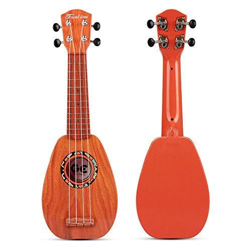 aPerfectLife 17' Kids Ukulele Guitar Toy 4 Strings Mini Guitar Children Musical Instruments Educational Learning Toys with Picks and Strap for Toddler Kids Boys Girls Beginner Starter (Burlywood)