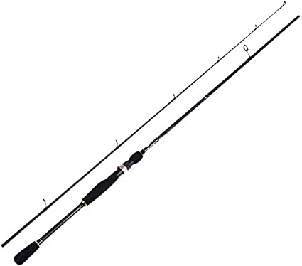 DUOER home Carbon Spinning Fishing Rod M Power Hand Tackle Lure ...