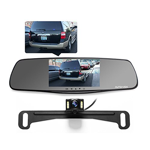 auto vox m3 dual lens dash cam 5 lcd full hd 1080p rearview mirror dash cam and ip 68. Black Bedroom Furniture Sets. Home Design Ideas