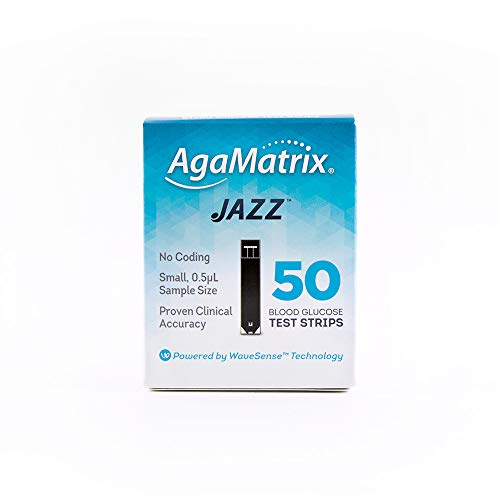 AgaMatrix 50 Piece Jazz Test Strip, 0.05 Pound