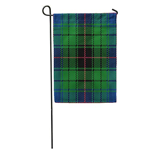 - Semtomn Garden Flag Blue Abstract Scottish Clan Davidson Traditional Tartan Plaid Green Black Home Yard House Decor Barnner Outdoor Stand 28x40 Inches Flag