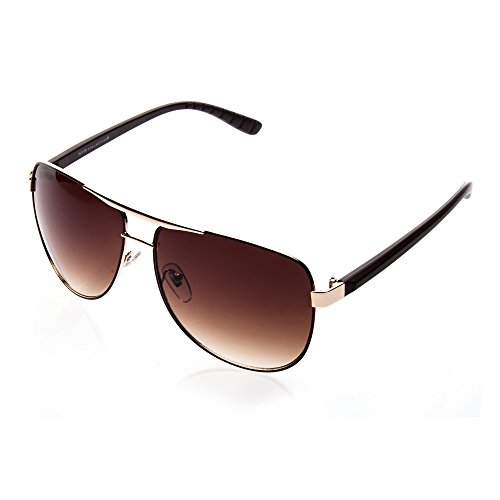 NYS Collection Columbus Circle Aviator Sunglasses (Gold, ()