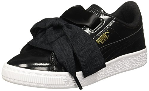 Puma Basket Heart Glam PS, Zapatillas Unisex Niños Negro (Black-black)