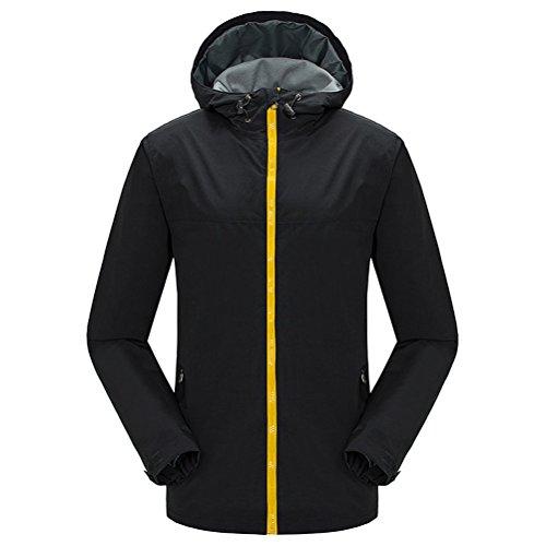 Black Trench Bello Zhuhaitf Layer Warm Hooded Waterproof Men Outdoor Coat Single Jackets 6zd4PzFBWx