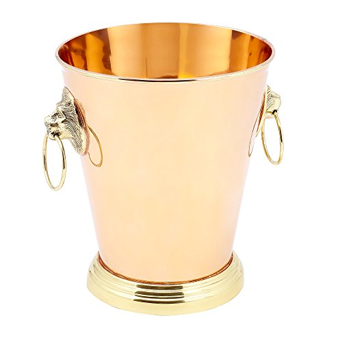 "1 Gallon Solid Copper ""Lion Head"" Champagne Cooler"