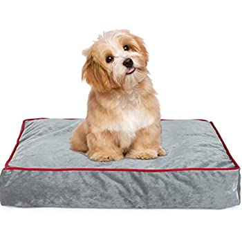 Memory Foam Pet Bed Ideal for Aging Dogs Eases Pain of Arthritis & Hip Dysplasia Removable Machine Washable Cover, Waterproof 180 GSM Non-Slip Cover, ...