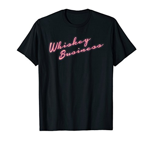 Mens Whiskey Business T-Shirt 80's Neon Throwback Large Black by T-Shirts by Irregulariteez (Image #2)