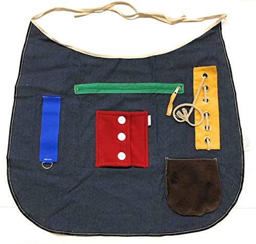 (Ecovona - Special Needs Sensory Therapy Activity Apron (Adult Size) for Seniors & Adults with Dementia, Alzheimer's and Special Sensory Needs | Fidget Design Improves Dexterity and Mental)