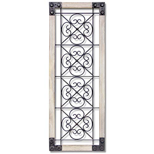 Infinity Instruments Antique Garden Gate Wood Wall Hanging Decor | 12