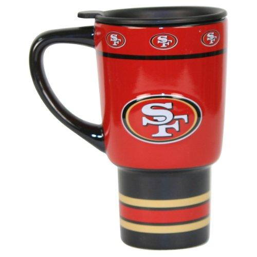 NFL San Francisco 49ers 16 Ounce Ceramic Sculpted Travel Mug