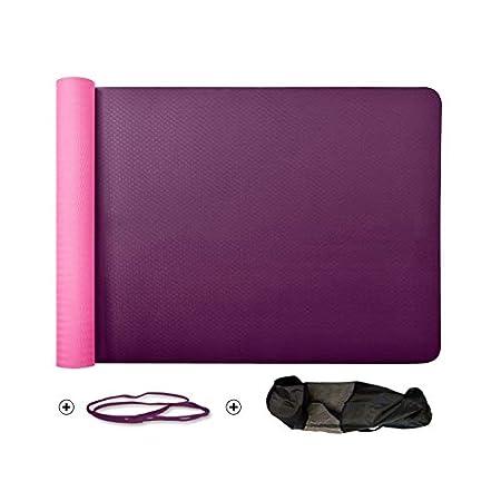 Amazon.com: JXSHQS Yoga Mat Natural Latex Multipurpose Foam ...