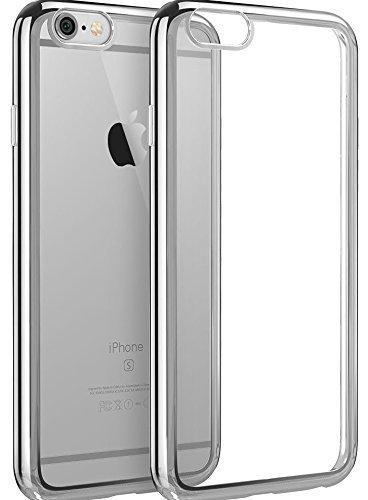 2 X protezione dello schermo in vetro temprato Pellicole protettive PER display + Iphone 6 6s Custodia COVER CASE Transparent PER Iphone 6 6s Colore del paraurti di alta qualità GRIGIO SILVER Chi bril