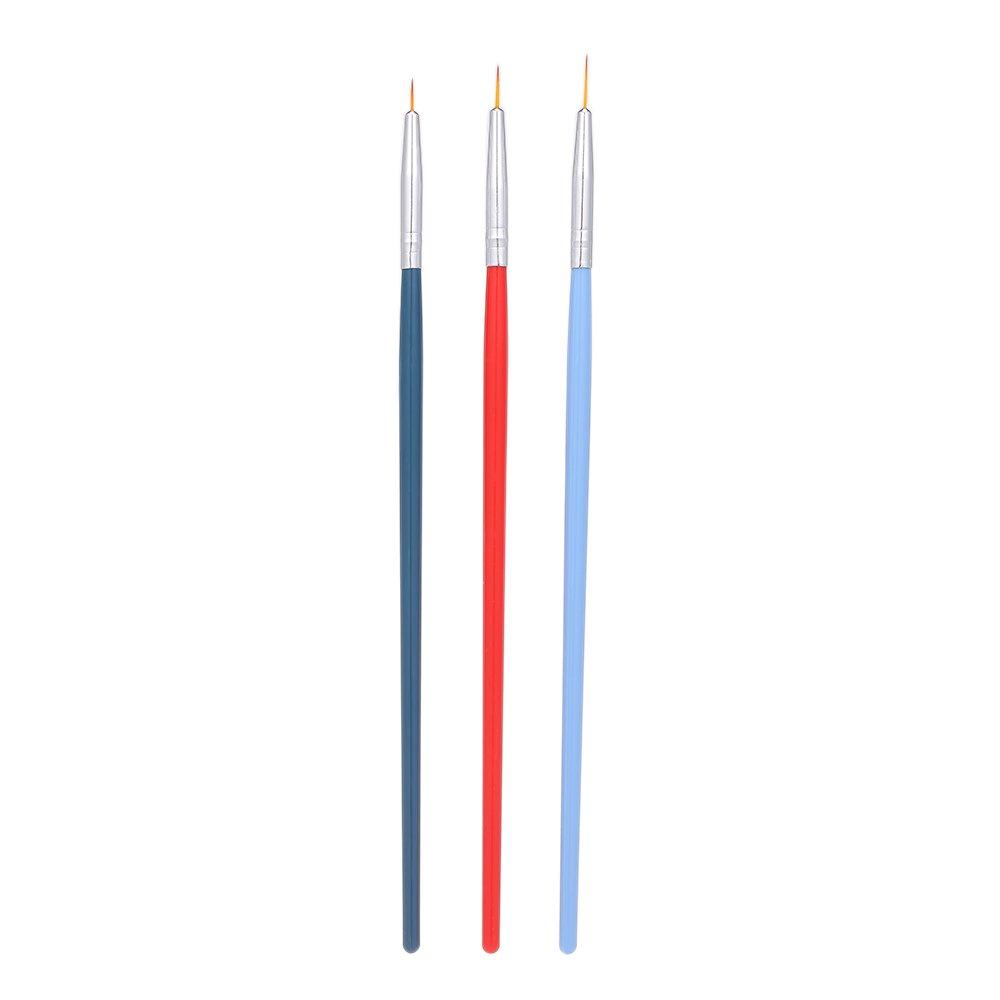 Anself 3Pcs Anself 3Pcs Uñas Pincel Decoración Nail Art Liner Brush UV Gel W6962-WL53AC