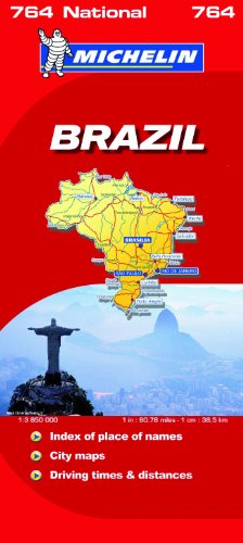 Brazil National Map (Michelin National Maps)