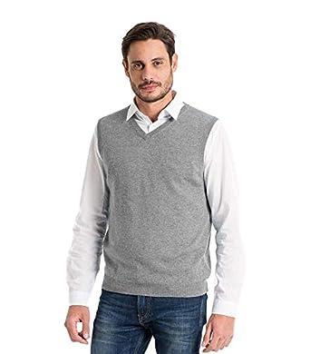 256ce3d45454c Woolovers Mens Cashmere Merino V Neck Tank Top Sleeveless Sweater Knitted  Slipover S