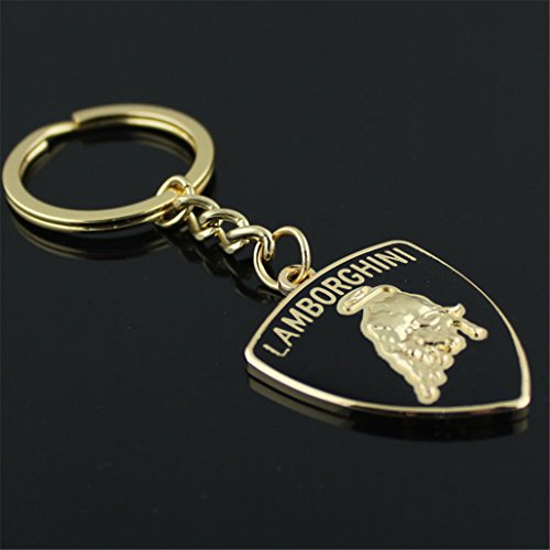 Logo Metal Keychain - Fashion Metal Car Logo Keychain Key Chain Keyring Key Ring For Lamborghini