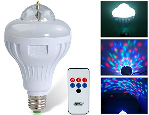 8W E27 LED Stage Light with Sound Active (White) by Ozone48 (Stage Makeup Melbourne)