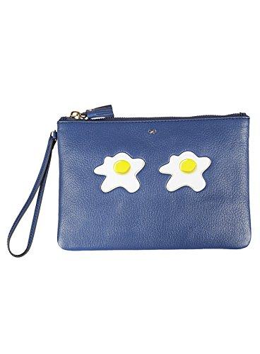 Anya Hindmarch Pochette Donna 929820 Pelle Blu