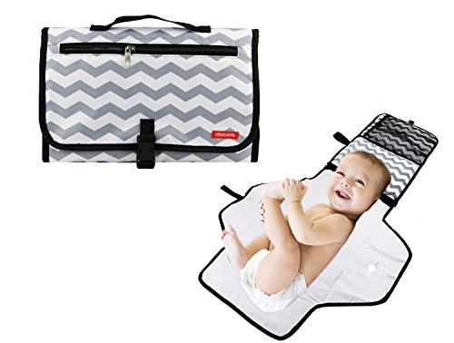 (Obecome Portable Waterproof Baby Diaper Changing Pad Kit, Travel Home Change Mat Organizer Bag for Toddlers Infants and Newborns)