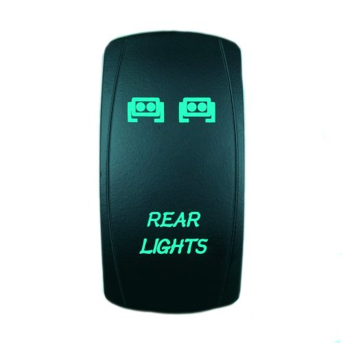 Laser Green Rocker Switch REAR LIGHTS 20A 12V On/off LED Light