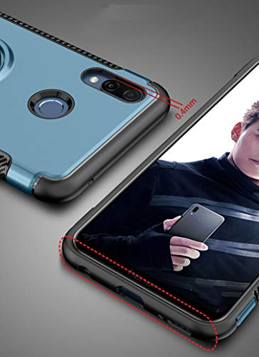 Huawei Nova 3i Case, Mingwei [with 360 ° Kickstand] Rotating Ring Case  [Dual Shockproof] Protection Cover Compatible with [Magnetic Car Mount] for