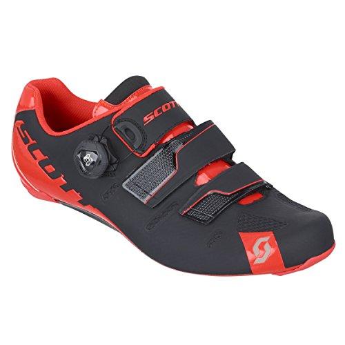 Scott Road Premium scarpe da ciclismo bici da corsa colore nero/rosso 2016 black/neon red gloss