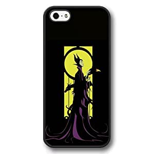 Personalized Disney Cartoon Sleeping Beauty Maleficent Hard Plastic Phone Case Cover for iPhone 5/5s - Black