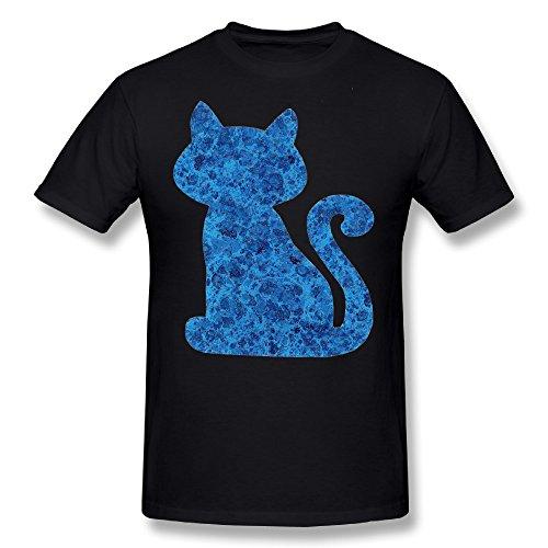 TAUYOP Men's Unique Cat T-shirts Black 3X
