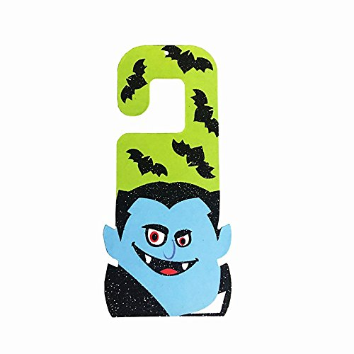 PENGYGY Halloween Props Paper Hanging Tag Accessories Door Window Party Decoration Bedroom Cartoons (A)]()