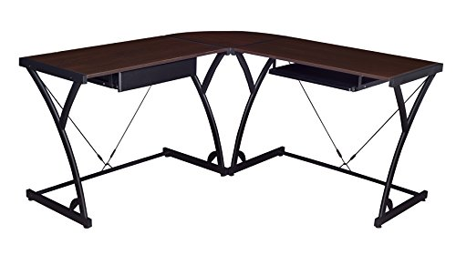 Regency Soho Computer Corner Desk- Mocha Walnut