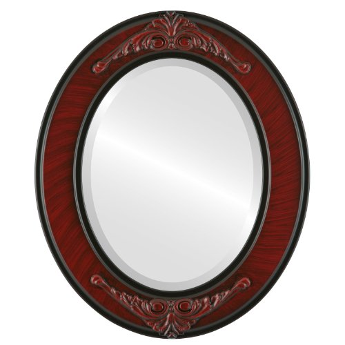 Oval Beveled Wall Mirror for Home Decor - Ramino Style - Vintage -