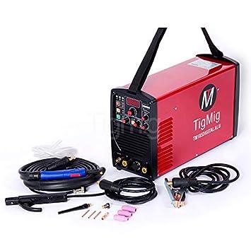 Soldador inverter TIG AC/DC Digital Wig tm185digitalalu 185 Amp 35% Ciclo de trabajo para soldadura de todos los metales especial para aluminio: Amazon.es: ...