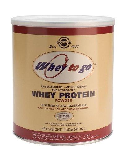 Whey Protein Powder To Go naturel de chocolat Cacao Bean saveur par Solgar - 41 oz