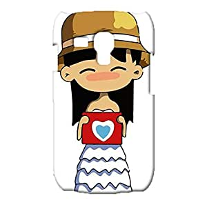 3d Skin Cover for Samsung Galaxy S3 Mini,Exquisite Female Straw Hat Couples Series Pattern Phone Case Snap on Samsung Galaxy S3 Mini