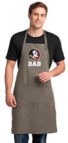 (Broad Bay FSU Dad Apron Large Mens Florida State Dad Logo Gift)
